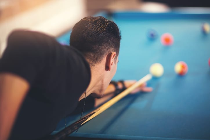 Pool Table in Man Cave