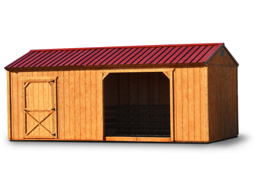 Horse Barn Stained Siding
