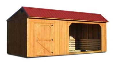 Horse Barn with Tack Room Stained