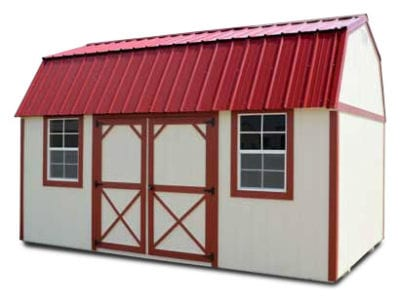 Side Lofted Barn Painted