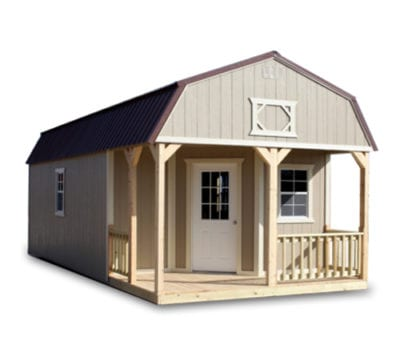 Deluxe Lofted Barn Cabin Painted