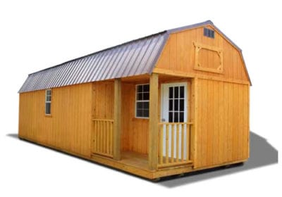 Side Lofted Barn Cabin Stained