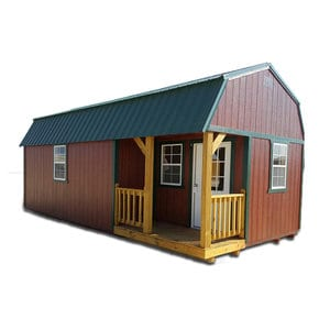 Side Lofted Barn Cabin Painted